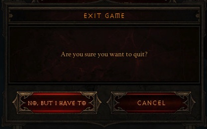 Diablo Internal Dialog Box