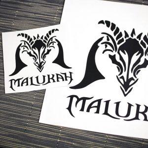 Malukah Dragon Logo Vinyl Sticker